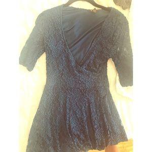 Blue lacey flowy dress